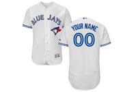 Mens Majestic Toronto Blue Jays Custom Made White Flex Base Jersey