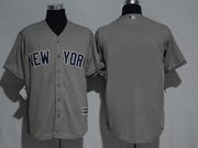 Mens Mlb New York Yankees Blank Grey Cool Base Jersey