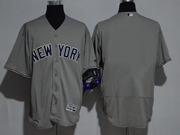 Mens Majestic New York Yankees Blank Grey Flex Base Jersey
