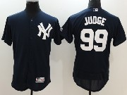 Mens Mlb New York Yankees #99 Aaron Judge Blue Flex Base Jersey
