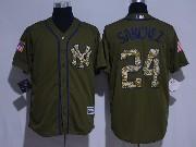 Mens Mlb New York Yankees #24 Gary Sanchez Green Fashion 2016 Memorial Day Jersey