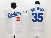 Mens Majestic Mlb Los Angeles Dodgers #35 Cody Bellinger White Home Flex Base Jersey