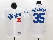 Mens Majestic Mlb Los Angeles Dodgers #35 Cody Bellinger White Home Flex Base Jersey