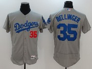 Mens Majestic Mlb Los Angeles Dodgers #35 Cody Bellinger Grey Away Flex Base Jersey