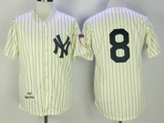 Mens Mlb New York Yankees #8 Yogi Berr Cearm Throwbacks Jersey