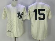 Mens Mlb New York Yankees #15 Thurman Munson Cearm Throwbacks Jersey