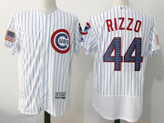 Mens Majestic Mlb Chicago Cubs #44 Anthony Rizzo White 2017 Stars And Stripes Flex Base Jersey