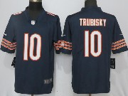 Mens Nfl Chicago Bears #10 Mitchell Trubisky Blue Vapor Untouchable Limited Jersey