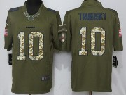 Mens Nfl Chicago Bears #10 Mitchell Trubisky Green Salute To Service Limited Jersey
