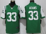 Mens New York Jets #33 Jamal Adams Green Limited Jersey