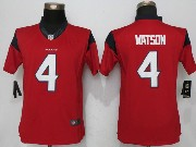 Mens Houston Texans #4 Deshaun Watson Red Limited Jersey