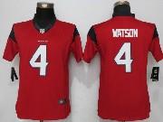 Mens Houston Texans #4 Deshaun Watson Red Limited Jersey