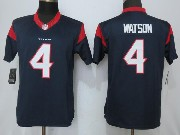 Mens Houston Texans #4 Deshaun Watson Blue Limited Jersey