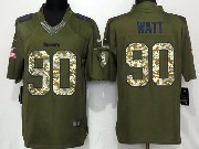 Mens Nfl Pittsburgh Steelers #90 T. J. Watt Green Salute To Service Limited Jersey