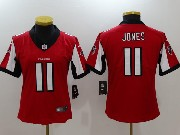 Women Nfl Atlanta Falcons #11 Julio Jones Red Vapor Untouchable Limited Jersey