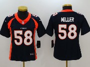 Women Nfl Denver Broncos #58 Von Miller Blue Vapor Untouchable Limited Jersey