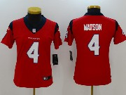 Women Nfl Houston Texans #4 Deshaun Watson Red Vapor Untouchable Limited Jersey
