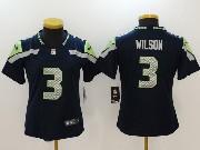 Women Nfl Seattle Seahawks #3 Russell Wilson Blue Vapor Untouchable Limited Jersey