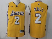 Mens Nba Los Angeles Lakers #2 Lonzo Ball Gold Home Jersey