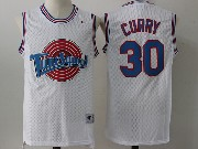Mens Nba Space Jam Tune Squad #30 Stephen Curry White Jersey