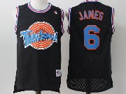 Mens Nba Space Jam Tune Squad #6 James Black Jersey
