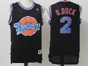 Mens Nba Space Jam Tune Squad #2 D.duck Black Jersey
