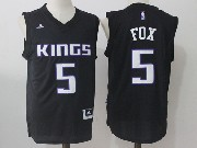 Mens Nba Sacramento Kings #5 De'aaron Fox Black Road Jersey