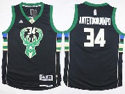 Mens Nba Milwaukee Bucks #34 Giannis Antetokounmpo Black Fashion Jersey