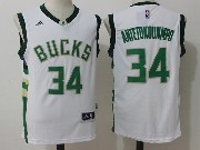 Mens Nba Milwaukee Bucks #34 Giannis Antetokounmpo White Jersey