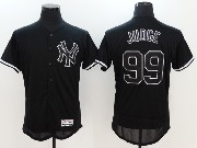 Mens Majestic New York Yankees #99 Aaron Judge Black Fashion Flex Base Jersey