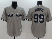 Mens Mlb New York Yankees #99 Aaron Judge Grey Cool Base Jersey