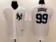 Mens Mlb New York Yankees #99 Aaron Judge White Cool Base Jersey
