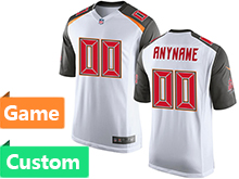 Mens Women Youth Tampa Bay Buccaneers (custom Made) White Game Jersey