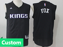 Mens Women Youth Nba Sacramento Kings Custom Made Black Jersey