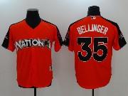 Mens Mlb Los Angeles Dodgers #35 Cody Bellinger 2017 Mlb All Star Game National Orange Cool Bass Jersey