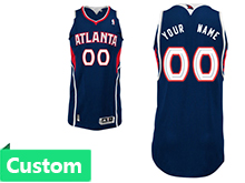 Mens Women Youth Nba Atlanta Hawks Custom Made Dark Blue Jersey