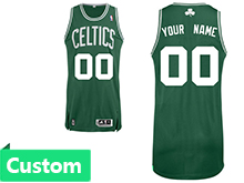 Mens Women Youth Nba Boston Celtics Custom Made Green Celtics Jersey