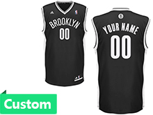 Mens Women Youth Nba Brooklyn Nets (custom Made) Black Jersey