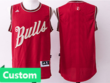 Mens Women Youth Nba Chicago Bulls (custom Made) Red 2016 Christmas Jersey