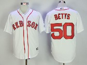 Mens Mlb Boston Red Sox #50 Mookle Betts White Cool Base Jersey