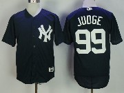 Mens Mlb New York Yankees #99 Aaron Judge Blue Cool Base Jersey