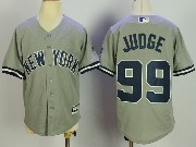Youth Mlb New York Yankees #99 Aaron Judge Grey Cool Base Jersey