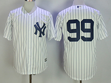 Mens Mlb New York Yankees #99 Aaron Judge White No Name Cool Base Jersey