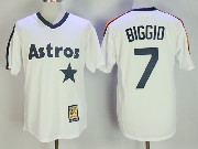 Mens Mitchell&ness Mlb Houston Astros #7 Craig Biggio White Pullover Throwback Jersey