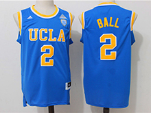 Mens Ncaa Nba Ucla Bruins #2 Lonzo Ball Blue College Basketball Authentic Jersey