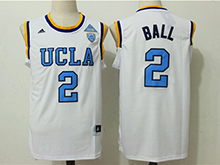 Mens Ncaa Nba Ucla Bruins Custom Made White Light Blue Number College Basketball Authentic Jersey