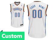 Mens Women Youth Nba Oklahoma City Thunder Custom Made White Home Jersey