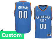 Mens Women Youth Nba Oklahoma City Thunder Custom Made Blue Road Jersey