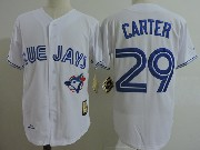 Mens Mitchell&ness Mlb Toronto Blue Jays #29 Joe Carter White Throwbacks Jersey