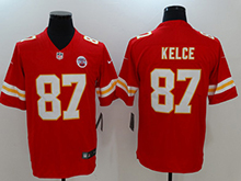 Mens Nfl Kansas City Chiefs #87 Travis Kelce Red Vapor Untouchable Limited Player Jersey